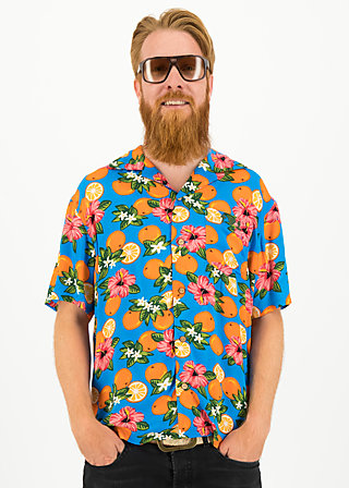 Shirt florida fruits, florida lady, Blutsbruder, Blue