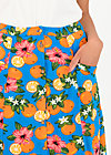 Maxi Skirt fruits of the beach, florida lady, Skirts, Blue