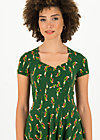 Summer Dress heart on fire, parrot parody, Dresses, Green