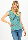 Sleeveless Top high end, beetle baywatching , Shirts, Turquoise