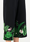 Jumpsuit out in the green, tropical night, Trousers, Black