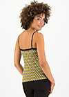 under my skin top, tiki gold, Shirts, Yellow