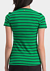 breton heart tee, jolly stripes, Shirts, Grün