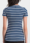 breton heart tee, maritim stripes, Shirts, Blau
