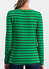 breton marine longsleeve, jolly stripes, Shirts, Grün