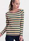 breton marine longsleeve, rainbow stripes, Shirts, Blau