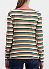 breton marine longsleeve, rainbow stripes, Shirts, Blue