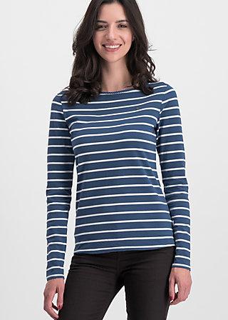 breton marine longsleeve, maritim stripes, Shirts, Blau