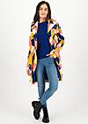 casablanca souvenir trench , great graphic, Jackets & Coats, Blue