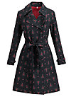 casablanca souvenir trench , red hood, Jackets & Coats, Black