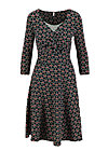 cold days hot knot robe, super cherry dot, Kleider, Schwarz