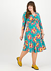 cold days hot knot robe, super retro bouquet, Dresses, Turquoise