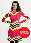 farewell summer robe, super rainbow stripes, Dresses, Red