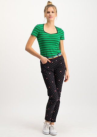 flotte beene pants, super pixel cherry, Trousers, Black