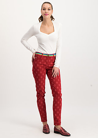 flotte beene pants, super romantic, Trousers, Red