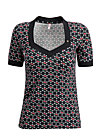 heart to heart shirt, super cherry dot, Shirts, Black