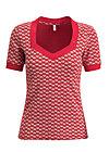 heart to heart shirt, super flower, Shirts, Red