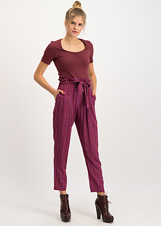 high flying beauty pants, super fruits, Trousers, Red