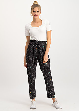 high flying beauty pants, super universe, Trousers, Black