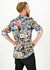 just super shirt, super comic, Blutsbruder, Blau