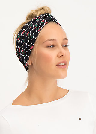 knot of knowledge hairband, super cherry dot, Accessoires, Schwarz