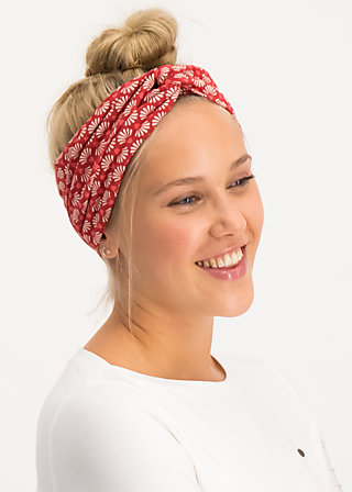knot of knowledge hairband, super flower, Accessoires, Red