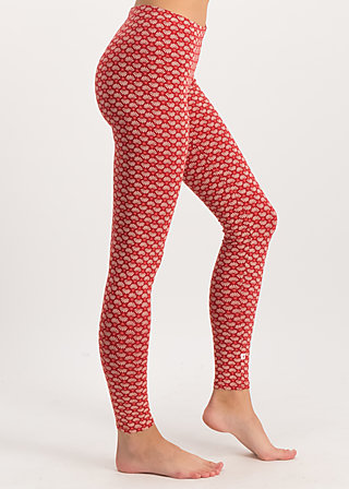ladylaune legs, super flower, Leggings, Red