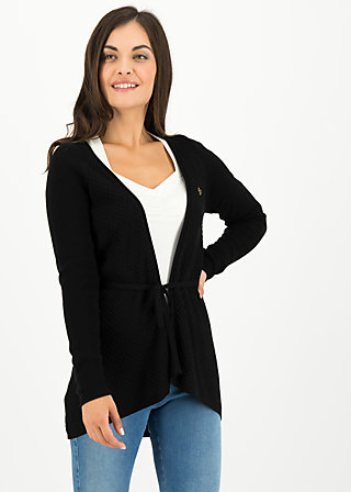 light hearted envelope cardy, black cosy knit, Pullover & leichte Jacken, Schwarz