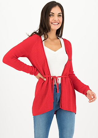 light hearted envelope cardy, red cosy knit, Pullover & leichte Jacken, Rot