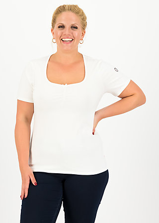 logo balconette tee, back to white, Shirts, White