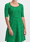 Jerseykleid logo breton dress, jolly stripes, Kleider, Grün