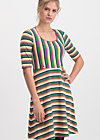 logo breton dress, rainbow stripes, Kleider, Blau