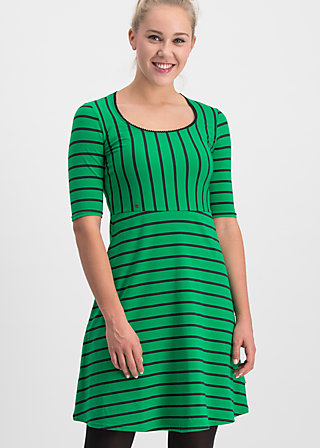logo breton dress, jolly stripes, Dresses, Green