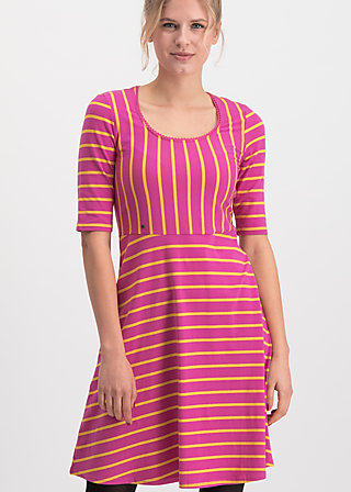 logo breton dress, sweet stripes, Dresses, Red