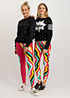 officejogger pants, super rainbow stripes, Leggings, Red