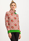 oh so nice sweat, super bouquet stripes, Pullover & leichte Jacken, Rot