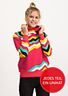 oh so nice sweat, super rainbow stripes, Pullover & leichte Jacken, Rot