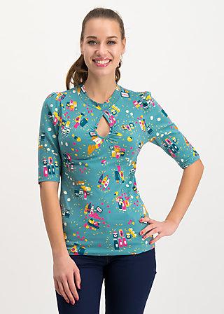 poetic peephole tee, super market, Shirts, Turquoise