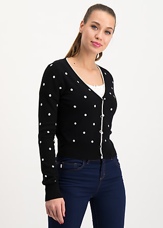 powerdots cardigan, super black dot, Pullover & leichte Jacken, Schwarz