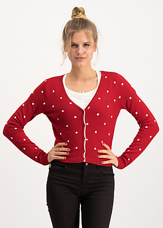 powerdots cardigan, super red dot, Pullover & leichte Jacken, Rot