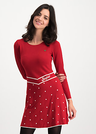 punktemädel dress, super red dot, Kleider, Rot