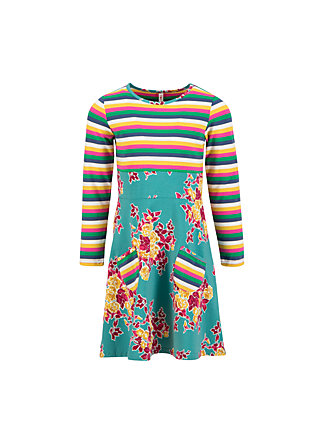 rainbow sailorette robe, super retro bouquet, Kleider, Türkis