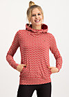 riders in the universe hood, super flower, Pullover & leichte Jacken, Rot