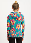 riders in the universe hood, super retro bouquet, Jumpers & lightweight Jackets, Turquoise