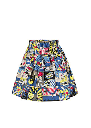sallys sweet skirty, super comic, Blau
