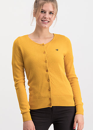 save the brave cardy, golden brown waffle, Pullover & leichte Jacken, Gelb