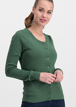 save the brave cardy, green waffle, Pullover & leichte Jacken, Grün