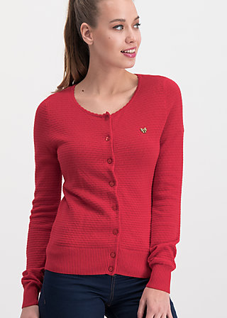 save the brave cardy, red waffle, Pullover & leichte Jacken, Rot