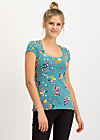 space age belle shirt, super market, Shirts, Turquoise