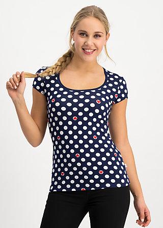 space age belle shirt, super heart, Shirts, Blue